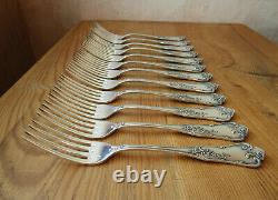 12 Boulenger Table Forks Model Louis XV In Very Good Condition No Christofle