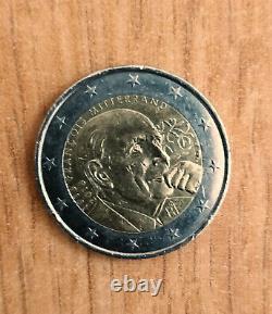 2 Euro Rare Commemorative François Mitterrand 1916/2016 In Very Good Condition