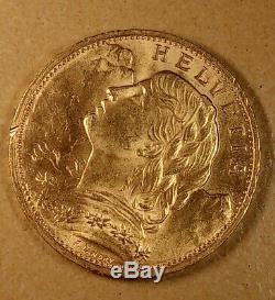 20 En 1922 Switzerland Gold Good Condition