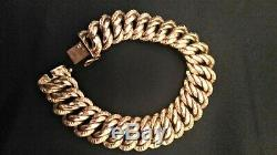 American Gourmette Yellow Gold 18 Carats 32,15 Gr 19 CM Very Good Condition