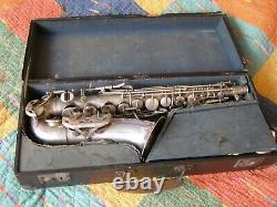Ancient E. Beaugnier Saxophone To Revise Very Good Silver Condition In Its Juice