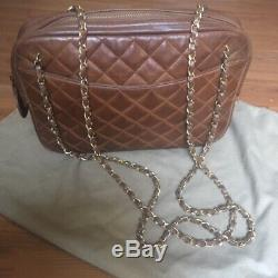 Beautiful Sac Vintage Chanel Authentic Very Good Condition Camel Fawn Color 32x22