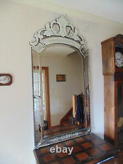 Beveled Wall Venetian Mirror Very Good DIM 166x83 CM