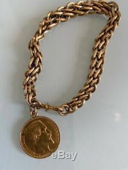 Bracelet Gold 20 Francs Napoleon III / 1856 A Very Good Weight 16 Gr