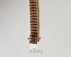 Bracelet Woman Gold 18 Carats / 750maille Américaine In Very Good State