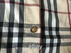 Burberry Belted Dress Size 36 Tartan Beige Very Good Condition