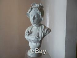 Bust Biscuit Girl After Greuze Sevres 18 Eme Siecle Very Good State