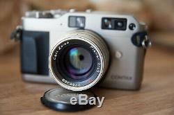 Camera Contax G1 + Carl Zeiss Planar 45mm F / 2 Very Good