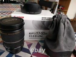 Canon Ef-s 17-55mm F / 2.8 Is Usm Lens Hood + Very Good Condition