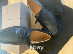Derby Boat Moccasin Jm Weston Leather Black 9 1/2 9.5 D 44/45 Tbe Very Good Condition