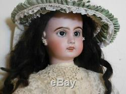 Doll Old Jumeau Bisque Head, Skull Oblique, Very Good Condition 65 CM