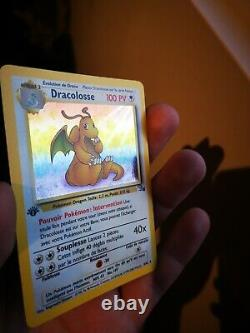Dracoloss Holo Pokemon 4/62 Fossile Edition 1 Very Good State Fr