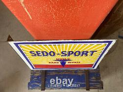 Enamel Plate Ancient Oil Sedo Sport Very Good Condition / Emailchild Enamel Sign