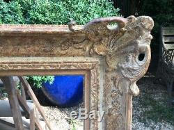 Exceptional Montparnasse Carved Wood Frame + Patina Excellent Condition Size 30f