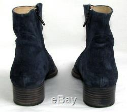 Free Lance Ankle Boots Queenie 4 Leather Suede Blue Night 37 Very Good Condition