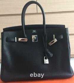 / Hermes Bag Birkin Black Size 35 Very Good Status Sale Authentic