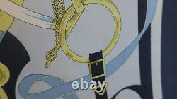 Hermes Square In Silk 90x90 Gold Spur -opportunity Very Good Condition