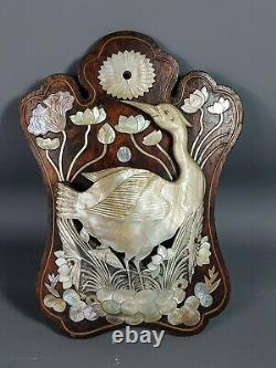 Indochina Old Ustensile Or Other, Mother-of-pearl On Wood. Very Good Condition. No. 2
