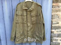 Jacket Jump Tap 47/53 Green Paratrooper Indochina Algeria Very Good Condition