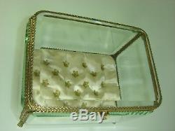 Large Box Jewelry Box Napoleon III Glass Biseaute Very Good Condition
