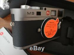 Leica M9 Gray Lacquered Very Good Condition, New Sensor (236 Trips) + Boxes