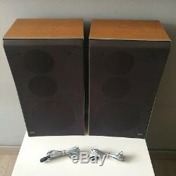 Library Speaker B & O Beovox S45-2 In Very Good Condition + Cables
