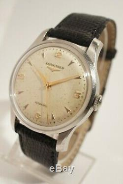 Longines Automatic Steel 22as Caliber, Very Good Condition, 1952