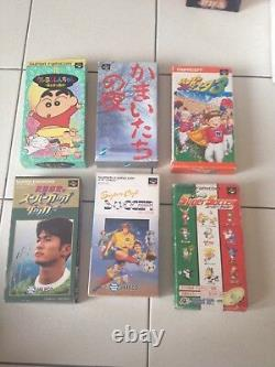 Lot Console Super Famicom - 24 Complete Games In Very Good Rare State