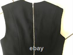 Louis Vuitton Dress Size S Black Silk And Wool Very Good And