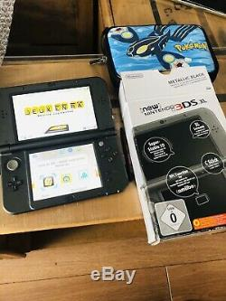 New Console Nintendo 3ds XL Stylus Black Metallic Charger In Very Good Condition