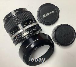 Nikkor 35mm F2 Ai-s For Nikon 'sun-pare Hn-3'nikon Corkscrews. Very Good State