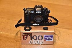 Nikon F100 Black Reflex Camera (box) Very Good Condition