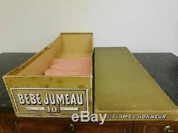 Old Box Baby Doll Jumeau Size 10 Cardboard, Very Good Condition