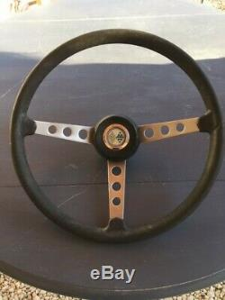 Old Quillery Vintage Steering Wheel For Renault R8 Gordini Car. Very Good State