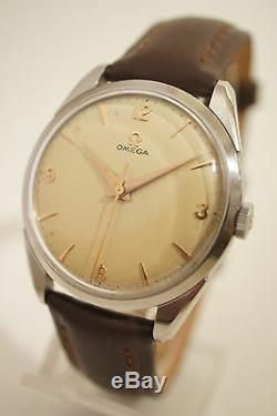 Omega Steel, Caliber 284, Second In The Center, Very Good Condition, 1956