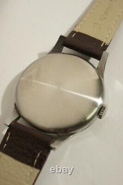 Oversize Longines (37.3 Mm) Steel, Caliber 12.68 Z, Very Good Condition, 1950