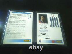 Panini Zidane 1996 X2 Bordeaux Cards - France Very Good Etat