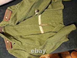 Panzer Panzerjacke Ww2 German Green Roseau Jacket Very Good Condition