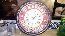 Pendulum Old Enamel St. Raphael Clock Very Good Condition