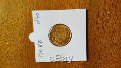 Pieces 20 Gold Francs Emperor Napoleon III 1870 Bb Workshop Very Good Condition