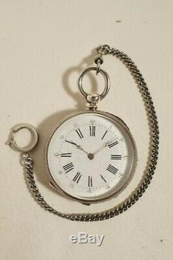 Pocket Watch In Silver, Very Good Condition, Works Perfectly, 1890