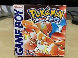 Pokemon Red Version Nintendo Game Boy Game Full Tres Bon French Fr