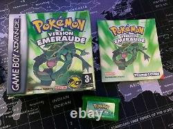 Pokémon Version Emerald Gba Box And Notice Very Good Condition