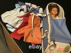 Pretty Blue 58 33 CM Very Good Condition With Its Nice Set