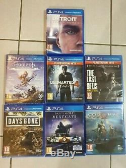 Ps4 Pro (hmc-7200) In Very Good Condition + 7 Games