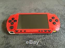 Radiant Red Psp Console 1004 Pal Very Good