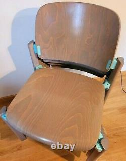 Rare 4 Chairs Empilable Thonet Wood And Aluminium Year 80 In Very Good State