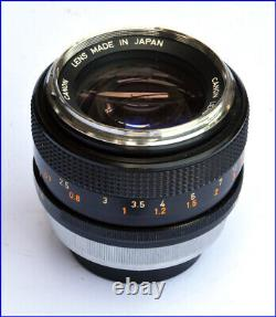 Rare Lens Canon Fd 55mm 11.2 For Ae-1 F-1 A-1. Chrome Noise Very Good Condition