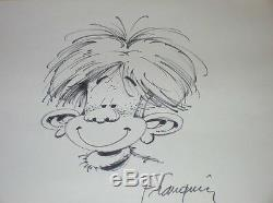 Rare Original Drawing / Jules De Chez Smith Sign Franquin / Very Good State