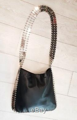 Rare! Paco Rabanne Leather And Steel Bag! / Very Good State / Paco Rabanne